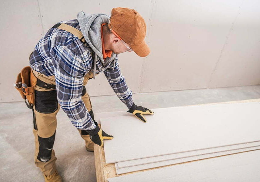 drywall, sheetrock and plywood boards.