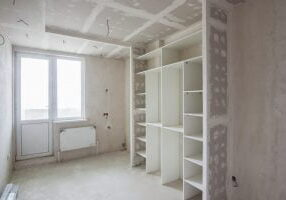 under construction house room
